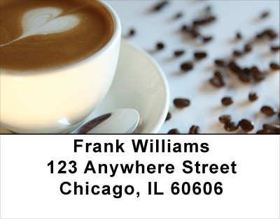 Coffee Lovers Address Labels | LBFOD-11