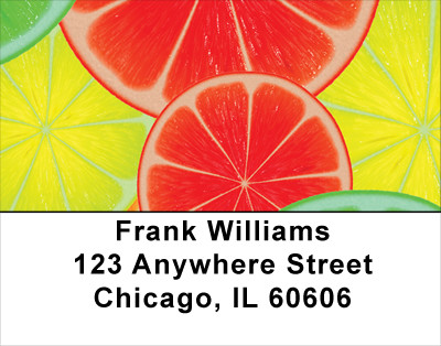 Citrus In Technocolor Address Labels | LBFOD-19