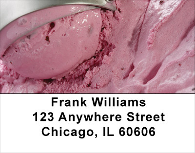 Ice Cream - Rich & Creamy Address Labels | LBFOD-21