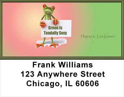 Hop To It... Live Green Address Labels | LBFUN-40
