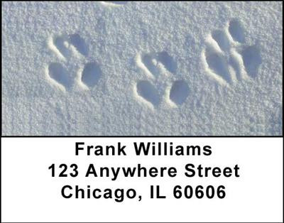 Animal Prints in the Snow Address Labels | LBGEO-30