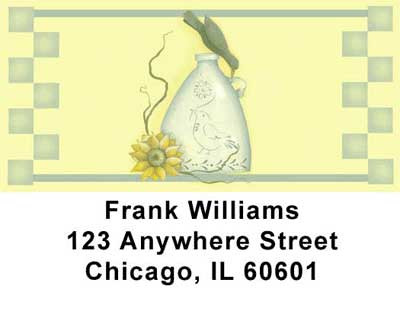 Sunflowers and Crows Address Labels by Lorrie Weber | LBJHS-07