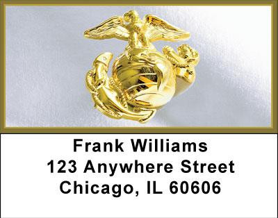 Marine Corps Emblem Address Labels | LBMIL-17