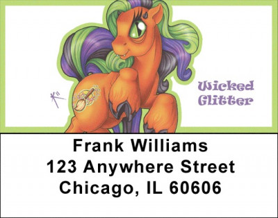 Purple and Green Mix - My Little Demon Address Labels | LBMLD-09