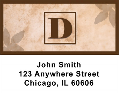 Simplistic Monogram D Address Labels | LBMONO-01D