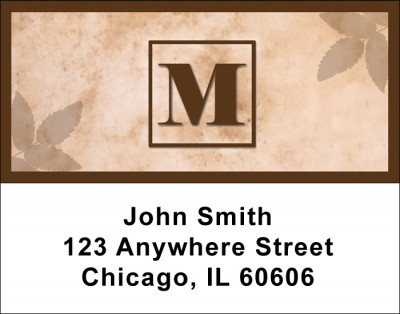 Simplistic Monogram M Address Labels | LBMONO-01M