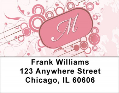Stylish Monogram M Address Labels | LBMONO-03M
