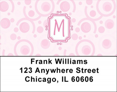 Bubbly Monogram M Address Labels | LBMONO-05M
