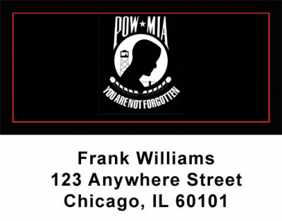 POW MIA Address Labels | LBPAT-18