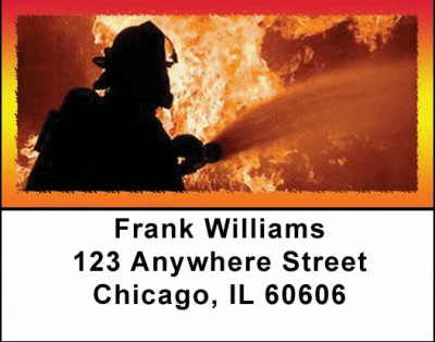 Fire Fighters Address Labels | LBPRO-01
