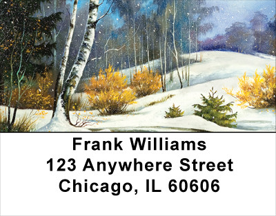 Aspen In Winter Address Labels | LBSCE-65