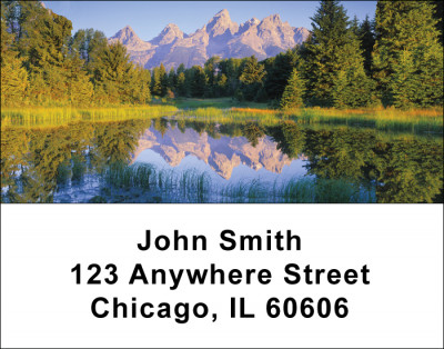 Pristine Mountain Lakes Address Labels | LBSCE-77