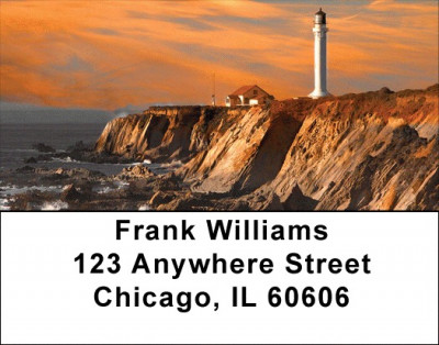 Lighthouses at Sunset Address Labels | LBSCE-79