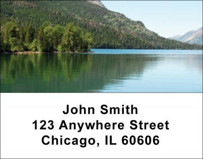 Mountain Lake Reflections Address Labels  | LBSCE-84