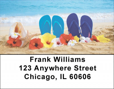 Flowers On The Beach Labels | LBSCE-96