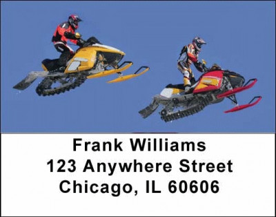 Snowmobiling Address Labels | LBSPO-11