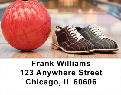 Open Lane Bowling Address Labels | LBSPO-A7