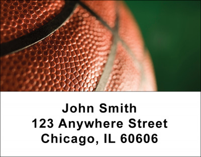 Basketball Address Labels | LBSPO-B2