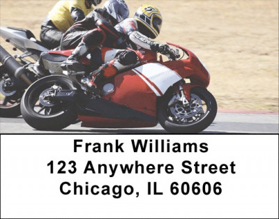Racing Superbikes Address Labels | LBTRA-B0