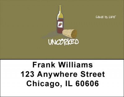 Uncorked Wine Is Life Address Labels | LBWIL-09