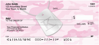 Dog Tag Monogram K Personal Checks | MONO-04K
