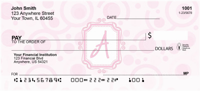 Bubbly Monogram A Personal Checks | MONO-05A