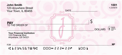 Bubbly Monogram J Personal Checks | MONO-05J