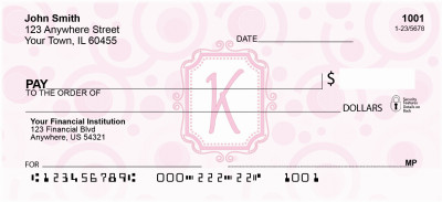Bubbly Monogram K Personal Checks | MONO-05K