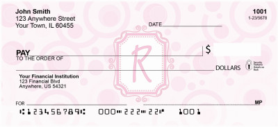 Bubbly Monogram R Personal Checks | MONO-05R
