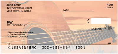 For Guitar Lovers Personal Checks | MUS-08