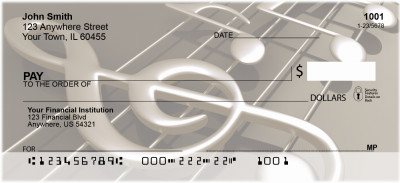 Treble Clef Notes Personal Checks | MUS-12