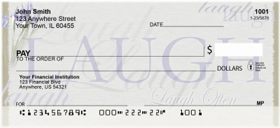 Live, Laugh, Love Personal Checks | NAT-10