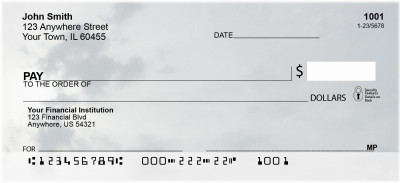 Silver Skies Personal Checks | NAT-26