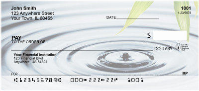 Bamboo & Water Droplet Personal Checks | NAT-33