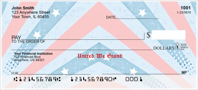 Red, White and Blue Personal Checks | PAT-39