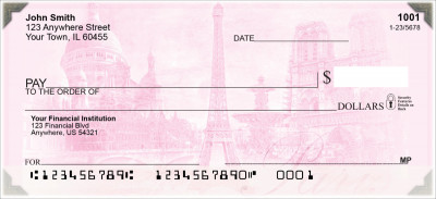 Bonjour Paris Personal Checks | SCE-002