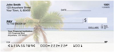 Palms On Beach Personal Checks | SCE-54