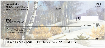 Aspen In Winter Personal Checks | SCE-65