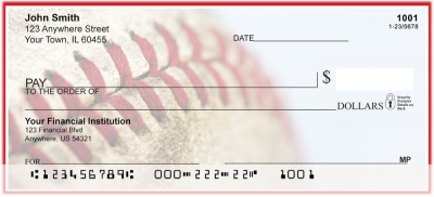 Red & White Baseball Team Personal Checks | SPT-13
