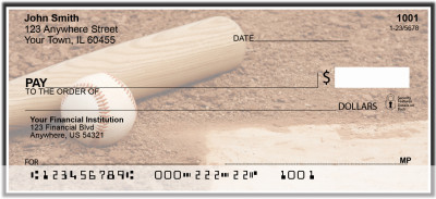 Black & White Baseball Team Personal Checks | SPT-14