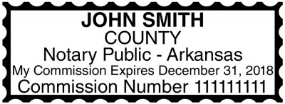 Arkansas Public Notary Rectangle Stamp | STA-AR01