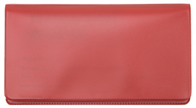 Red Vinyl Checkbook Cover | VCB-RED01