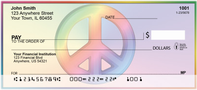 Rainbows For Peace Personal Checks | WIS-10