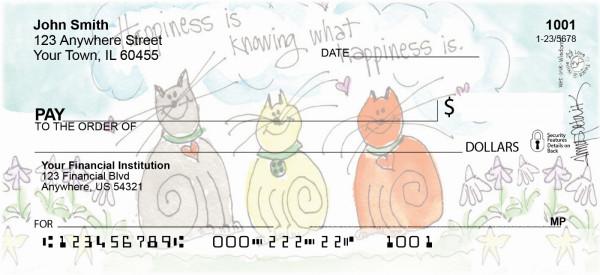 Happy Cats Personal Checks