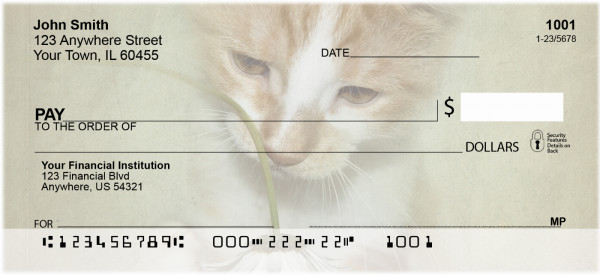 Flowers & Cats Personal Checks