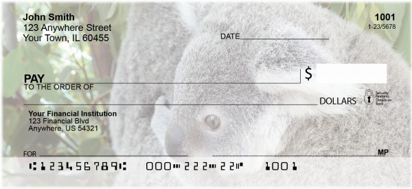 Kuddly Koala Personal Checks | ANJ-37