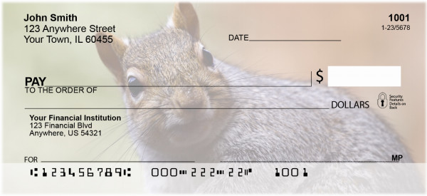 Squirrel Time Personal Checks | ANJ-74