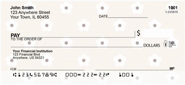 Flower Print Personal Checks
