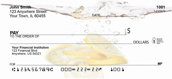 Splashing Fruit Personal Checks