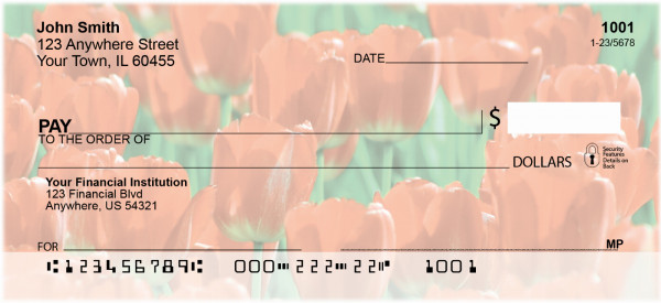 Lovely Tulips Personal Checks
